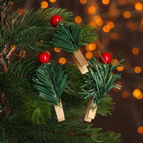 Новогодние декоративные прищепки «Ягодки» 3 шт.