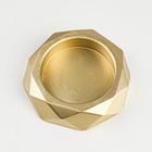 "Подсвечник ""Грани"", 2,3х10 см, золото"