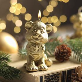 """Свеча новогодняя """"Символ года - тигрёнок"""", 7 см, золото"""