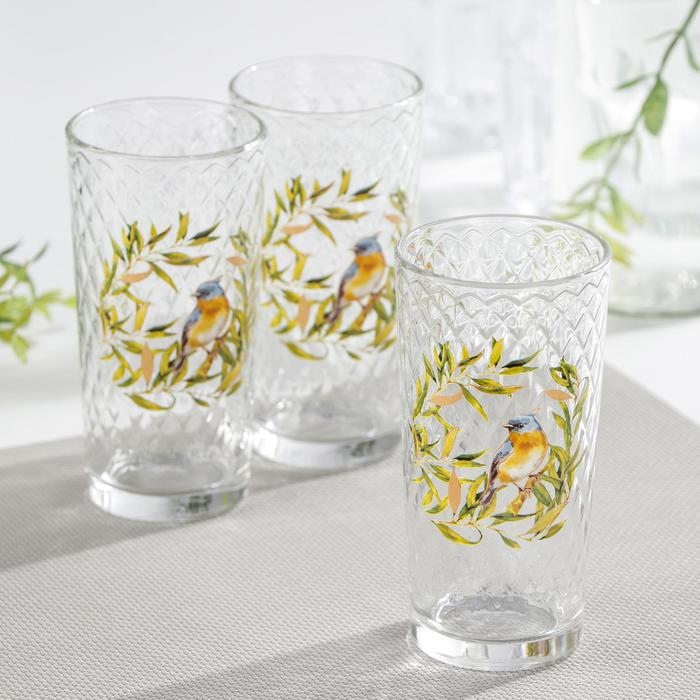 Набор стаканов «Флора и Фауна», 230 мл, 3 шт