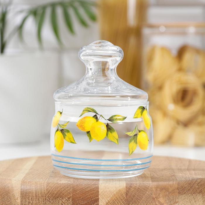 Банка для сыпучих продуктов «Лимоны», 500 мл