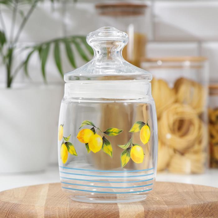 Банка для сыпучих продуктов «Лимоны», 800 мл