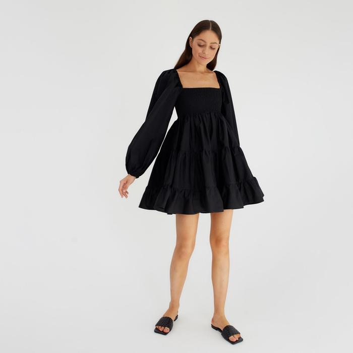 Платье женское MIST р. 40-42, черный - фото 314740344