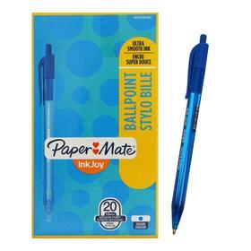 Ручка шариковая, автоматическая INKJOY 100 RT, 0.5мм, пластиковый корпус, синие чернила