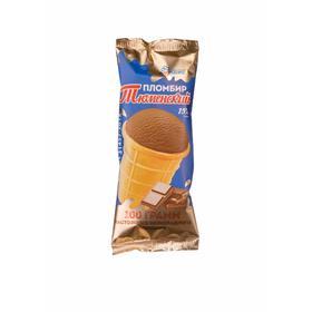 Мороженое «Тюменский пломбир» в вафельном стаканчике 15% шоколадное, 100 г