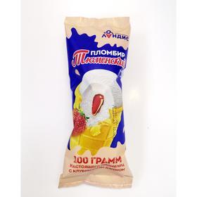 Мороженое «Тюменский пломбир» в вафельном стаканчике 15% ванильно-клубничное, 100 г