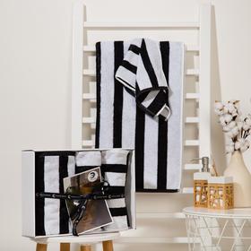 Набор полотенец Этель Stripes 3 шт; 100%хл, 420 гр/м2 (70*130, 30*60 см - 2шт)