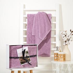 Набор полотенец Этель Organic Lavender 2 шт; 100% хл, 420гр/м2 (70х130, 50х90 см)