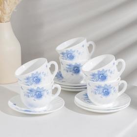 {{photo.Alt    photo.Description    'Сервиз чайный Доляна «Синий бриз», 12 предметов, чашка 200 мл, блюдце d=14 см, цвет белый'}}