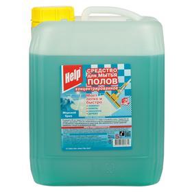 """Средство для мытья полов концентрированное """"Help"""" Морской бриз, 5 кг"""