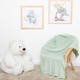 Плед Крошка Я зеленый, 80*100 см, 100% бамбук