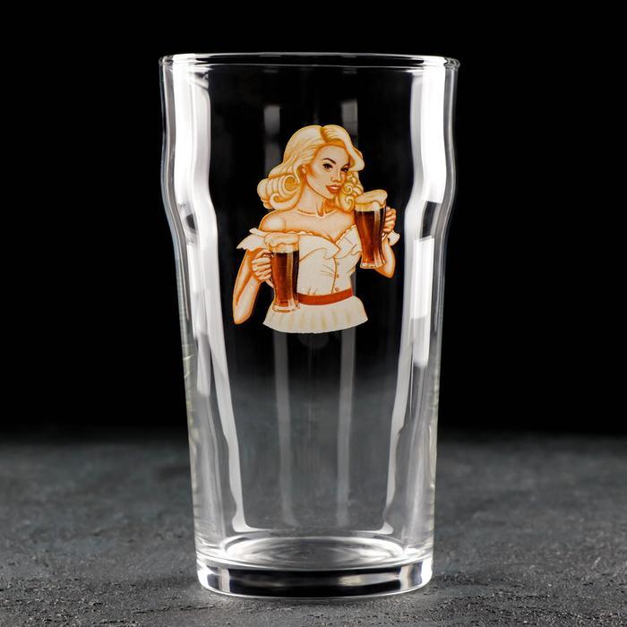 Бокал для пива «Девушка в белом», 570 мл