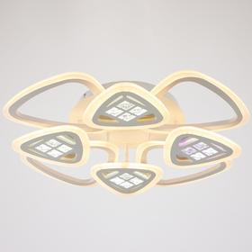 Люстра с ПДУ 1160/8WT LED 168Вт 3000-6000К диммер белый 70х70х10 см