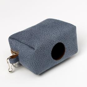 Контейнер-сумка для уборки за собаками (без пакетов), синий