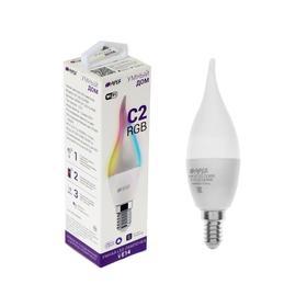 Умная LED лампа HIPER, Wi-Fi, Е14, C37, 6 Вт, 2700-6500 К, 520 Лм, RGB