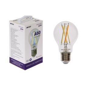 Умная LED лампа HIPER, Wi-Fi, Е27, А60, 7 Вт, 2700-6500 К, 800 Лм, филамент