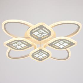 Люстра с ПДУ 1162/8WT LED 160Вт 3000-6000К диммер белый 70х70х10 см