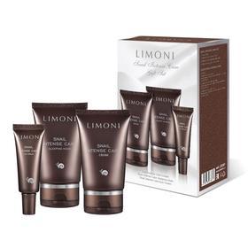 Набор Limoni Snail Intense Care, крем для лица 50 мл + крем для век 25 мл + маска 50 мл