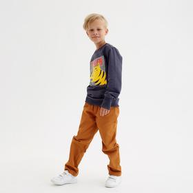 Брюки для мальчика MINAKU: Casual collection KIDS, цвет рыжий, рост 104 см