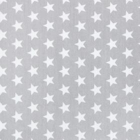 """Пододеяльник """"LoveLife""""  Серые звёзды, 112х147см, 100% хлопок, сатин"""