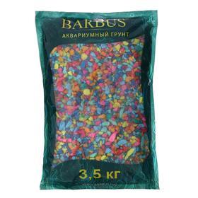 Грунт BARBUS цветная каменная крошка МИКС 5-10мм,  3,5кг