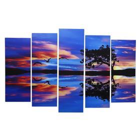 """Картина модульная на подрамнике """"Красочный рассвет"""" 80х130 см(1-79*23, 2-69*23, 2-60*)"""