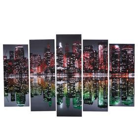 "Картина модульная на подрамнике ""Краски Нью-Йорка"" 80х130 см(1-79*23, 2-69*23, 2-60*)"
