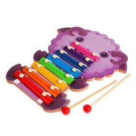 Игрушка музыкальная металлофон «Животные» 18×29×2,3 см, МИКС