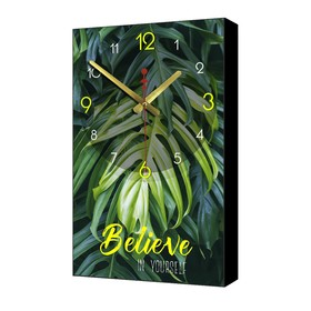 """Часы настенные """"Believe"""", 1 АА, плавный ход, 57х35х4 см"""