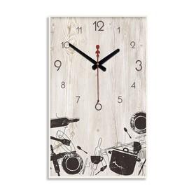 """Часы настенные """"Кухонная утварь"""", 1 АА, плавный ход, 57х35х4 см"""