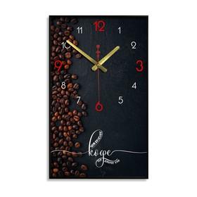 """Часы настенные """"Чем вкуснее кофе, тем добрее утро"""", 1 АА, плавный ход, 57х35х4 см"""