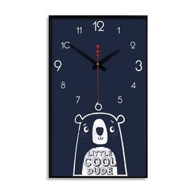 """Часы настенные """"Маленький крутой чувак"""", 1 АА, плавный ход, 57х35х4 см"""