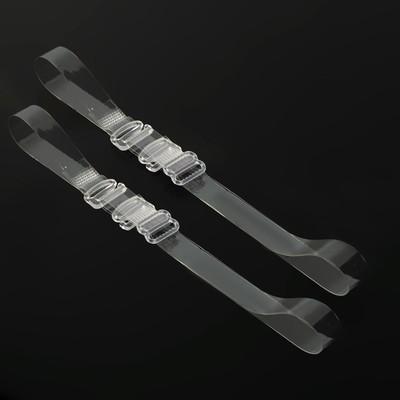Бретели силиконовые, 1 см, 37 см, пара, цвет прозрачный