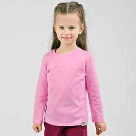 Лонгслив для девочки «Basic», рост 104 см, цвет розовый