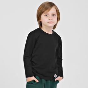 Лонгслив для мальчика «Basic», рост 134 см, цвет чёрный