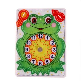 Игрушка из фетра «Часы. Лягушонок»