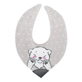 Нагрудник - бандана детский для кормления «Мишка», с прорезывателем