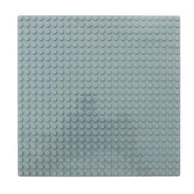 Пластина основание для конструктора 19,5×19,5, цвет серый