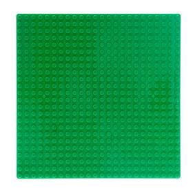Пластина основание для конструктора 19,5×19,5, цвет зелёный