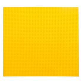 Пластина основание для конструктора 40×40, цвет жёлтый