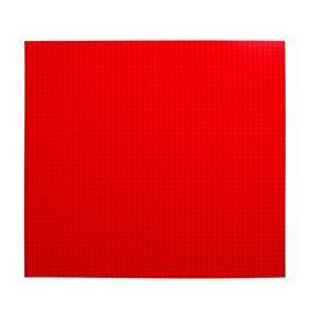 Пластина основание для конструктора 40×40, цвет красный