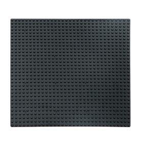 Пластина-основание для конструктора, 25,5×25,5 см, цвет чёрный