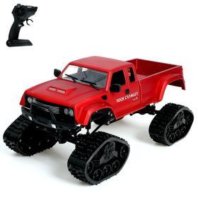 Джип радиоуправляемый «Гусеничный вездеход», 1:16, полный привод 4WD, цвет красный