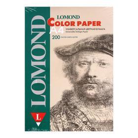 Бумага цветная А4, 200 листов LOMOND пастель, сиреневая, 80г/м² (1004212)
