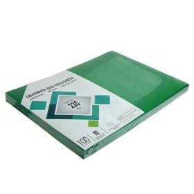 """Обложки А3 Гелеос """"Кожа"""" 230г/м, зеленый картон, 100л."""