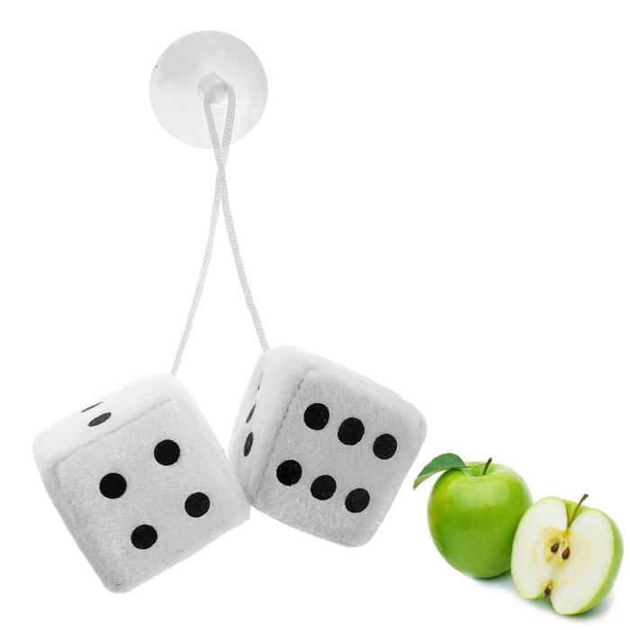 """Ароматизатор подвесной """"Кости"""", белый, яблоко"""