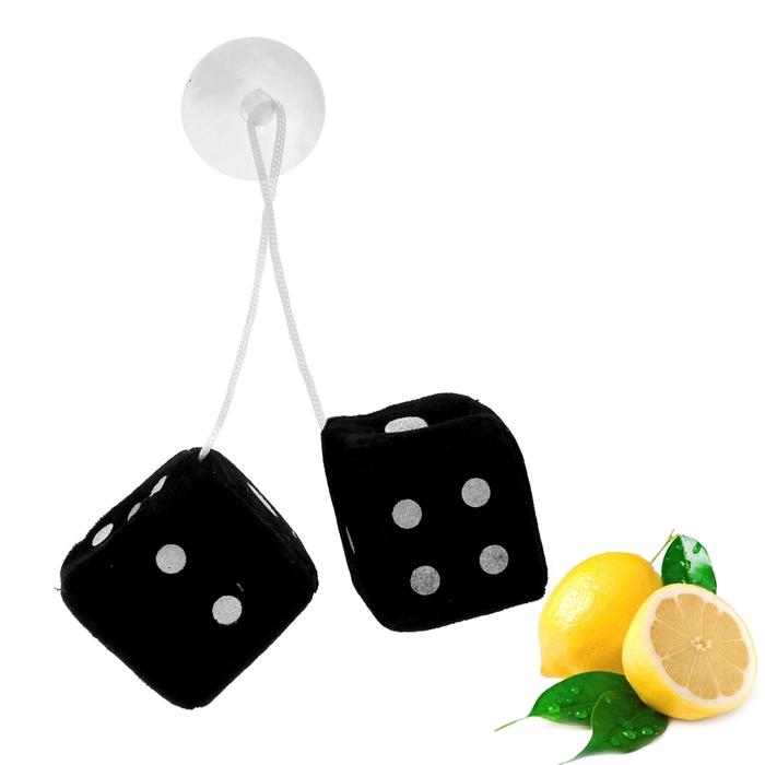 """Ароматизатор подвесной """"Кости"""", черный, лимон"""