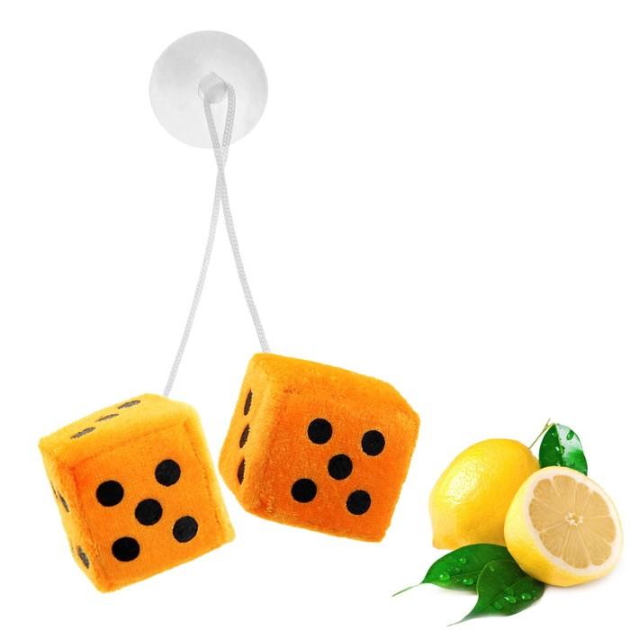 """Ароматизатор подвесной """"Кости"""", оранжевый, лимон"""