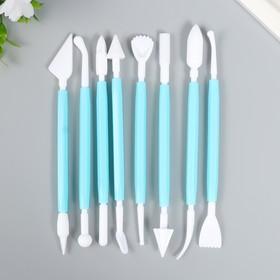Инструмент для моделирования пластик набор 8 шт 15,5 см