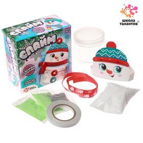 Набор для творчества «Новогодний слайм: снеговик»
